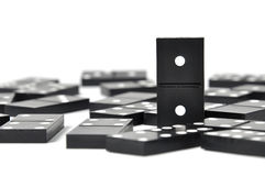 Dominoes over white Royalty Free Stock Image