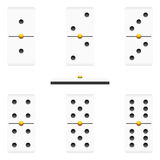 Dominoes pieces Royalty Free Stock Photo