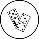 Dominoes pieces vector illustration Stock Image