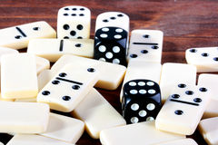 Dominoes and playing bones Stock Photo