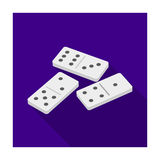 Dominoes for playing in the casino. Gambling for money.Kasino single icon in flat style vector symbol stock illustration Stock Images
