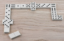 Dominoes playing Royalty Free Stock Images