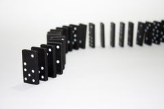 Dominoes in the row Royalty Free Stock Images