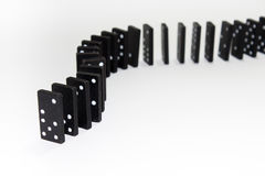 Dominoes in the row Stock Image