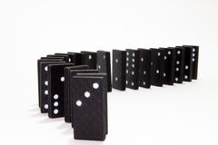 Dominoes in the row Stock Photos