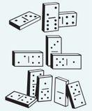 Dominoes set Stock Image