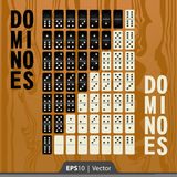 Dominoes set for game development interface design in two colors Stock Photo
