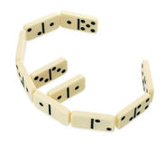 Dominoes in shape of euro currency symbol Royalty Free Stock Photos