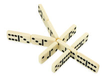 Dominoes in shape of yen currency symbol Stock Image