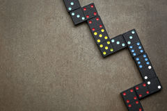 Dominoes on Slate Overhead View Stock Photography