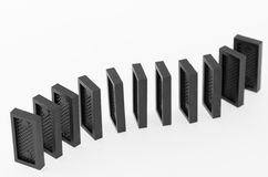 Dominoes standing in a row Royalty Free Stock Photography