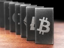 Crypto domino Stock Images