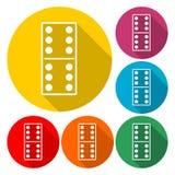 Dominoes vector icon - Illustration royalty free illustration
