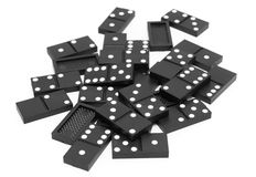 Dominoes. On white background. Royalty Free Stock Photo