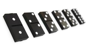 Dominoes on white background. Stock Photo