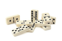 Dominoes. On white background Royalty Free Stock Photo