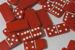 Dominoes on a white background Royalty Free Stock Photos
