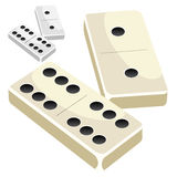 Dominoes on white background stock illustration