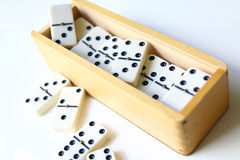 Dominoes  on white background Royalty Free Stock Images