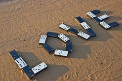 dominoförälskelse Fotografering för Bildbyråer