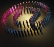 Dominointernet-Zeichen Lizenzfreies Stockfoto