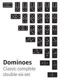 Dominoknochen eingestellt Stockbilder