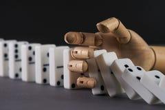 Dominolek Fotografering för Bildbyråer