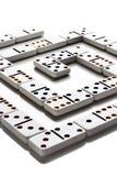 dominomodell arkivbild