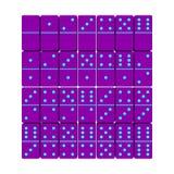 Dominoreeks 3d vectorillustratie Hoogste mening Royalty-vrije Stock Foto
