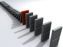 Dominos 3d Lizenzfreies Stockbild