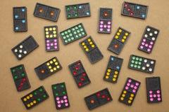 Dominos auf topview Stockfotos