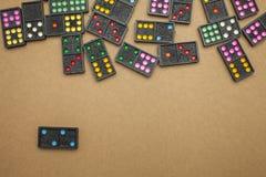 Dominos auf topview Stockbild