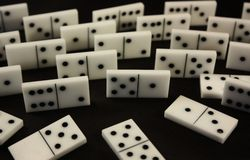 Dominos. Board game Stock Photo