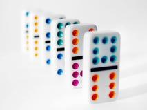 Dominos colorés Images stock