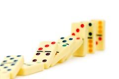 Dominos colorés d'isolement Photos libres de droits