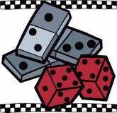 Dominos & Dice Stock Photo