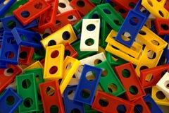 Dominos, Dominosteinstapel Stockfotos