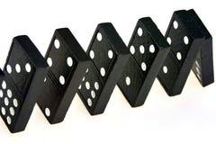 Dominos en baisse Images libres de droits