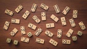 Dominos et matrices Images libres de droits