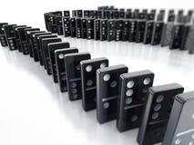 Dominos in Folge Stockfoto