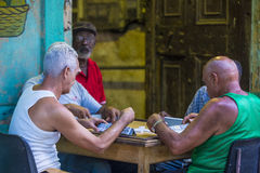 Dominos players in Havana , Cuba Stock Photography
