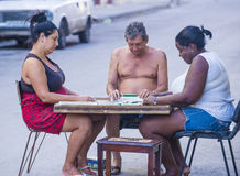 Dominos players in Havana , Cuba Royalty Free Stock Photography