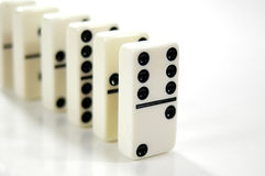 Dominos in a Row Royalty Free Stock Image