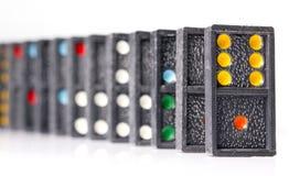 Dominos sur le fond blanc Images stock