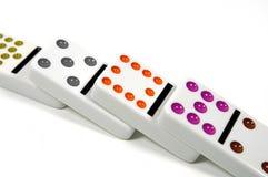 Dominos tombés Photos libres de droits