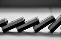Dominostücke Stockbild