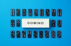 Dominostukken stock foto's