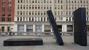 Dominostukken het Spel Art Park bij van de 'Uw Bewegings' Raad in Philadelphia Royalty-vrije Stock Foto