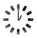 Dominovorwahlknopf getrennt auf Weiß stockfoto