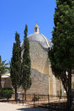 Dominus Flevit Church. Dominus Flevit is a Roman Catholic church at the Mount of Olives, Jerusalem, Israel stock images